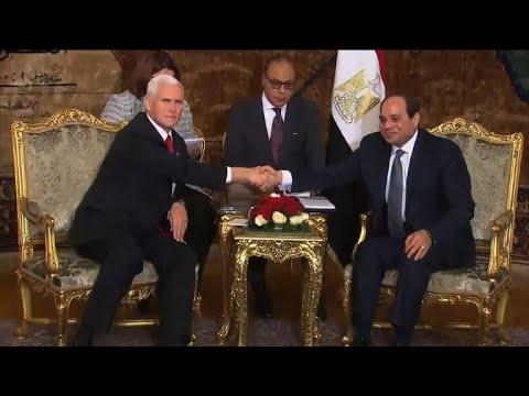 بنس يستهل من القاهرة جولة شرق أوسطية بعد اعتراف واشنطن بالقدس عاصمة لإسرائيل