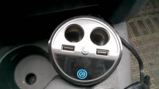 Обзор разветвителя прикуривателя-подстаканника A18 с USB c AliExpress