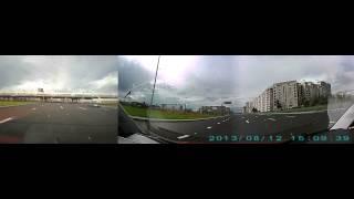 ViGo V30 Panoramic, 3 камеры, 1920x480, день(, 2013-08-22T10:47:56.000Z)