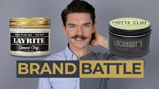 Layrite Cement Clay vs. Lockhart's Matte Clay | Brand Battle