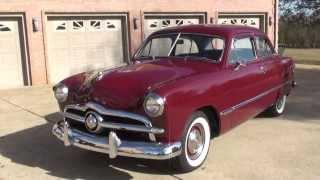 HD VIDEO 1949 FORD 49 CUSTOM TUDOR SEDAN FOR SALE SEE WWW SUNSETMILAN COM
