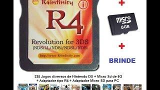 Destravar Nintendo DS, 2DS e 3DS via R4 infinity (Venda) + micro sd 8Gb + 325 jogos de ds