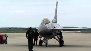 Must see: F-16 engine start & pre-flight