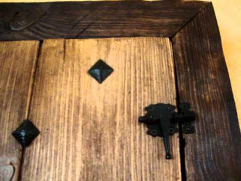 Ventana r stica hecha con poliuretano youtube - Hacer una ventana de madera ...