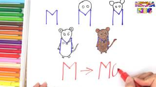 How To Draw and Color a Mouse Easy Steps By Step ✅How To Teach Baby To Speak English