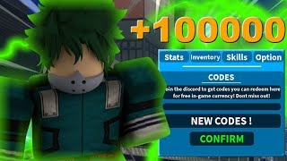 (+100000) New Codes ! | Boku No Roblox: Remastered | Roblox MHA Game