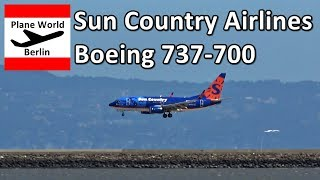 Sun Country Airlines Boeing 737-700 landing at San Francisco Airport