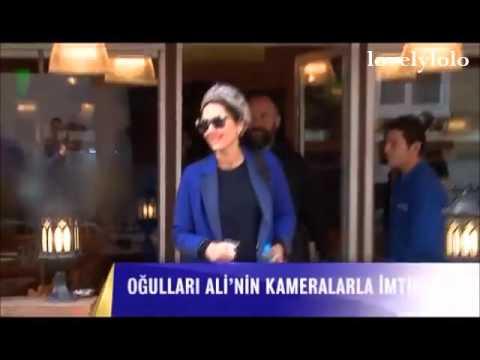 Halit Ergenc with Berguzar Korel & Ali at a fish restaurant 31.3.2016