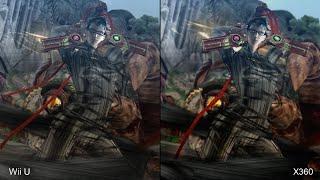 Bayonetta 1 Wii U vs Xbox 360 Comparison