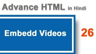 Embedd video on website or web pages using HTML in Hindi