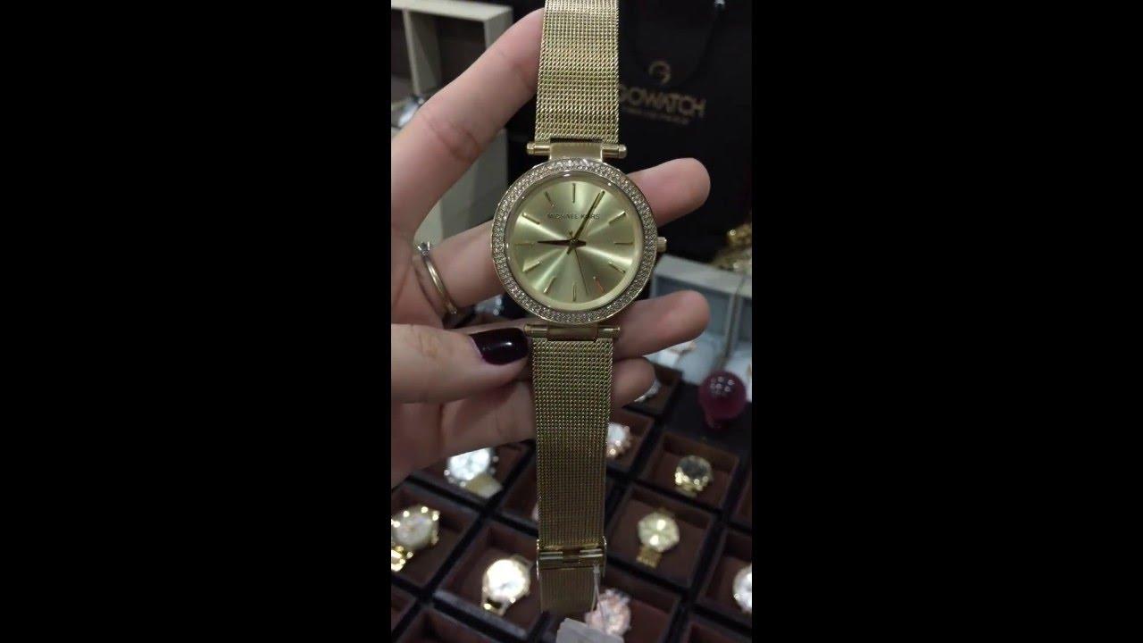 f64e46d95447 Michael Kors Darci Gold Tone Stainless Steel Ladies Watch MK3368 ...