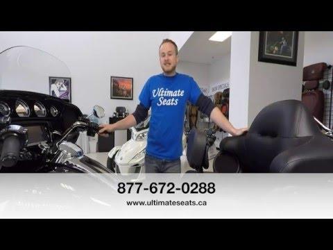 Ultimate Seats - Driver Backrest for Stock Harley-Davidson® FLH® Seat
