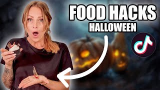 JE TESTE DES FOOD HACKS TIKTOK HALLOWEEN !