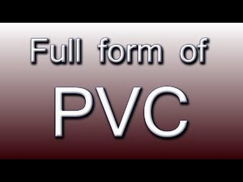 What is the Full Form of PVC  YouTube