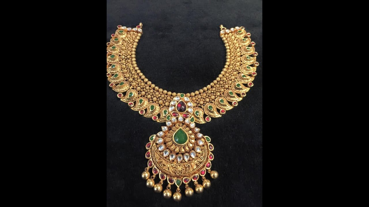 set indian grt pin lakshmi handmade collections gold beautifully crafted necklace pendant