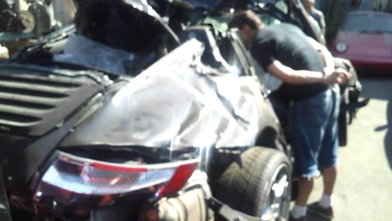 porsche 911 997 carrera s wreck accident destroyed youtube. Black Bedroom Furniture Sets. Home Design Ideas