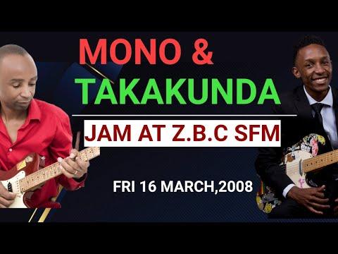 Mono Mukundu & son Takakunda jamming &chatting @Zbc Sfm, Fri 16 March 2018