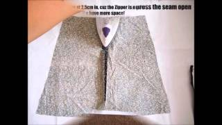 DIY Tutorial: How To Make An A-line Mini Skirt EASY!