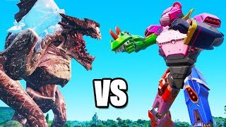 The MONSTER vs ROBOT FIGHT in FORTNITE! (Live Event)