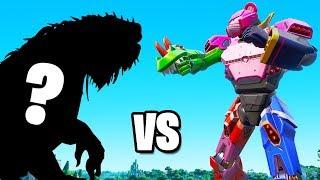 MONSTER vs ROBOT FIGHT in FORTNITE! (Live Event)