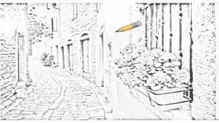 Auto Draw 2: Cobblestone Street, Bale, Croatia