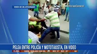 Pelea entre policía y mototaxista en Palmira, Valle, quedó registrada en video