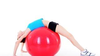 Упражнения для живота  Используем фитбол Видео