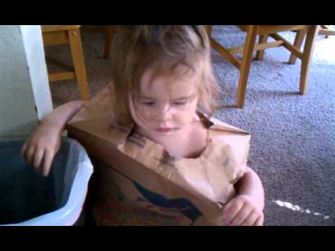 Maleia's paper bag shirt.