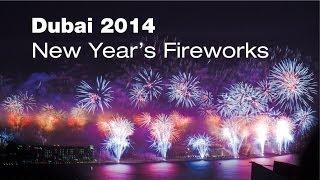 Timelaps - New Year's Fireworks Dubai 2014, Palm Jumeirah, Burj Khalifa, Burj Al Arab