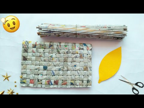 Newspaper craft | best out of waste craft idea | recycle newspaper | #HMA471