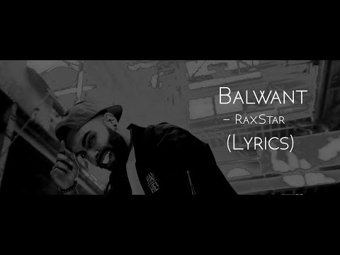 RaxStar - Balwant (Lyrics/Lyrical Video)