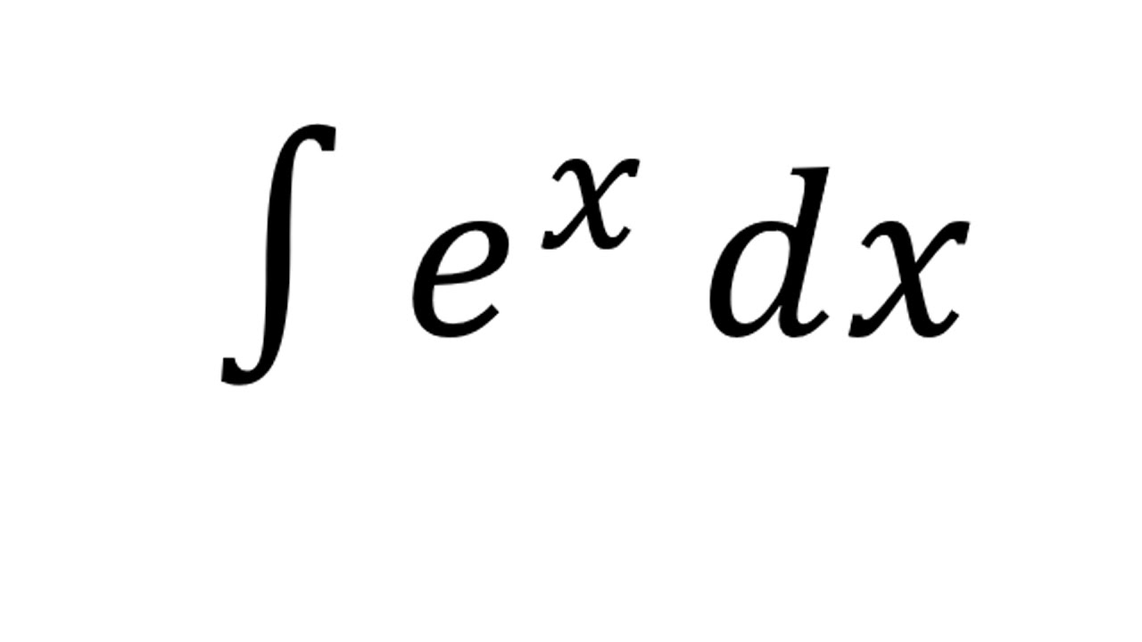 integral of e x - exponential function