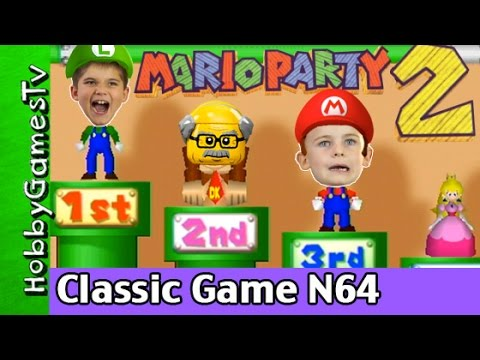 Mario Party 2 Classic Nintendo Video Game Gameplay Fun Old Man Lego Floyd + HobbyKids, HobbyGamesTV