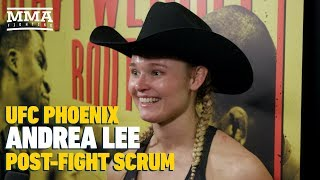 UFC Phoenix: Andrea Lee's Advice to Others Dealing With Domestic Abuse Issues: 'Just Move Forward'