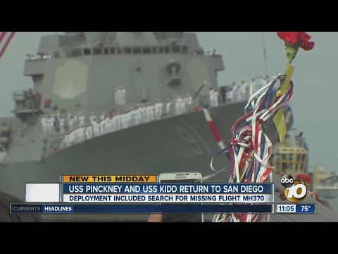 Loved ones welcome home crews of USS Pinckney, USS Kidd