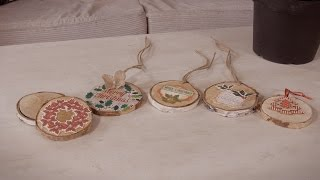 How to Make Birch Wood Christmas Tree Decorations