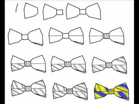 Cute Bow Tie Drawing How To Draw A Bowtie S...
