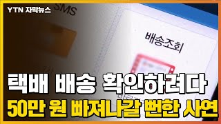 """[자막뉴스] """"택배 배송 조회하다 50만 원 …"""