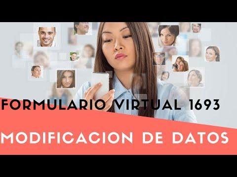 Modificacion de datos Formulario 1693 Sunat Operaciones En Linea