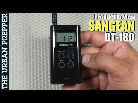 Sangean DT-180 Pocket Radio Review by TheUrbanPrepper