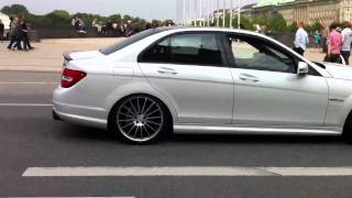 C63 AMG CUSTOM Exhaust accelerates LOUD in Hamburg