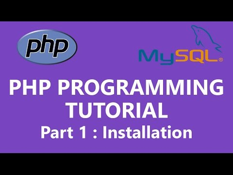 PHP Programming Tutorial Part 1 - PHP and Atom Text Editor Installation