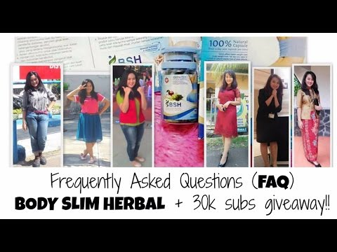 FAQ - Obat Diet Body Slim Herbal + 30K Subscribers GIVEAWAY (closed) | Frequently Asked Questions