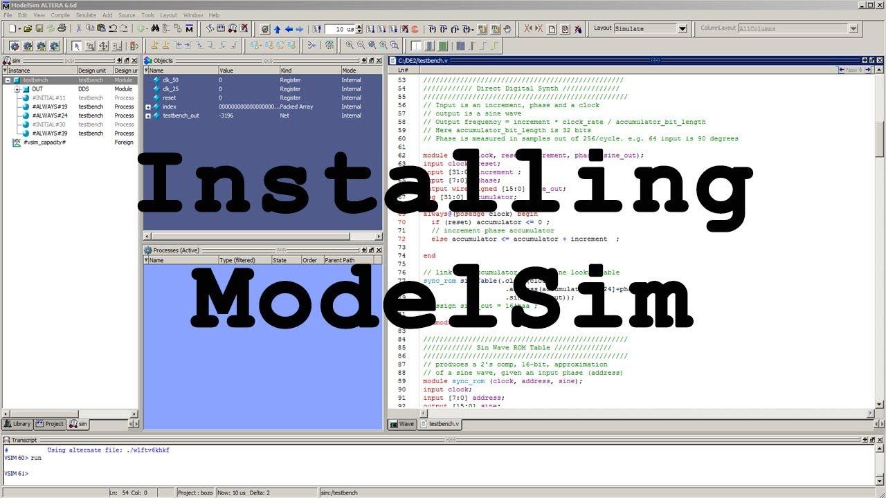 Modelsim Installation tutorial