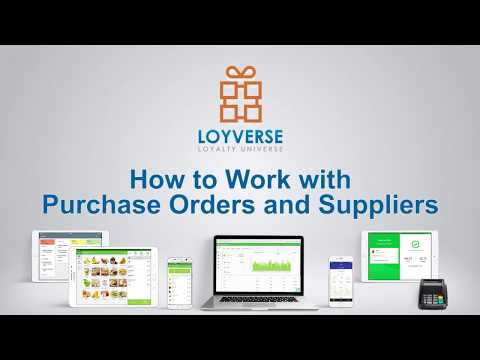 How to Work with Purchase Orders and Suppliers - Loyverse Inventory