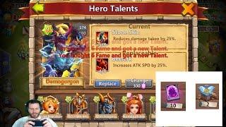 Finally Getting DemoGorgon Rolling 70,000 Gems For Talents Castle Clash
