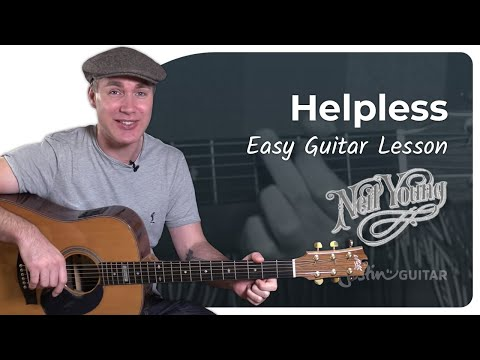 Helpless - Neil Young - Acoustic Guitar Lesson Tutorial (ST-911) Capo and Cover