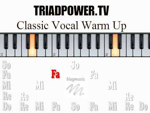 Classic Vocal Warm Up Exercise but a Slower Do Re Mi Version