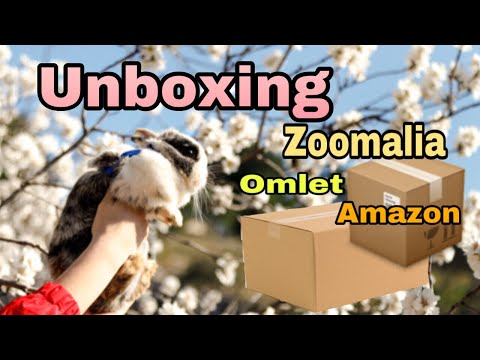 unboxing / achats : zoomalia , omlet , amazon , box lapin avril