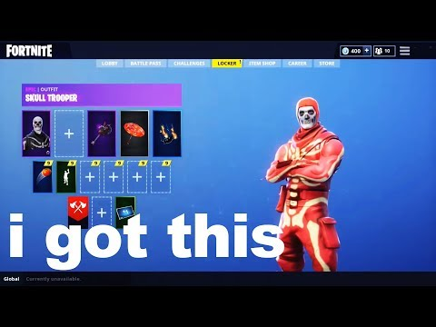 I Tried Unlocking Red Glow Skull Trooper With A Fortnite GLITCH And Got This...